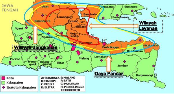 Jangkauan Pancar Siar Radio Surabaya Suara Al-Iman 846 AM